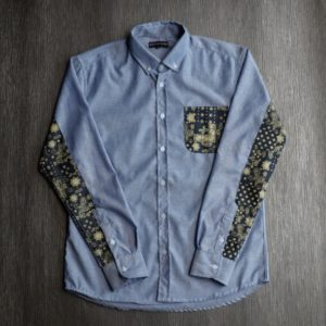 Kemeja Button Down Biru
