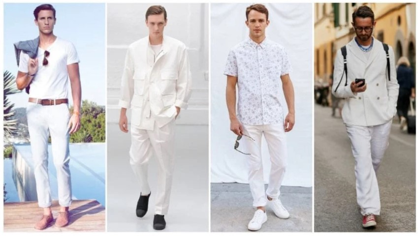 style casual all white