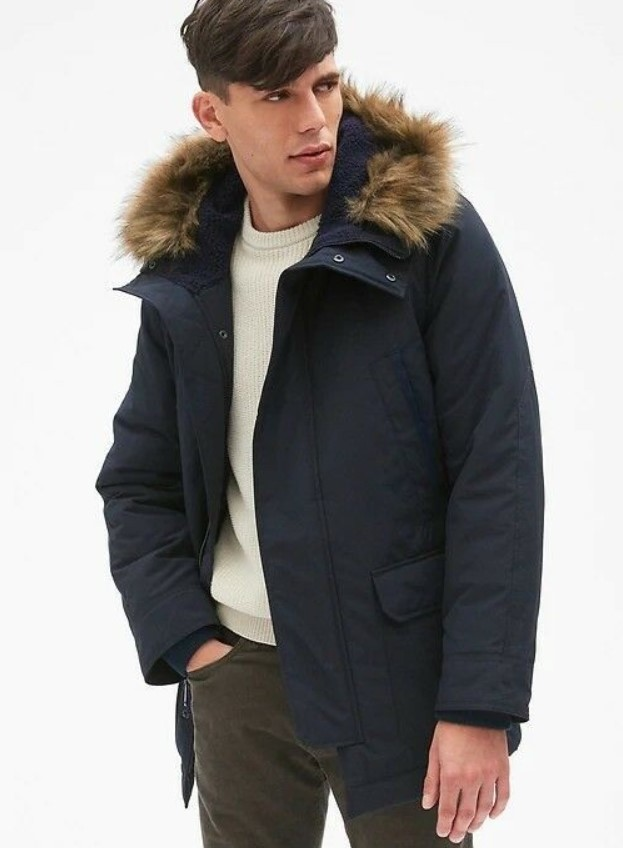 Parka jacket faux fur